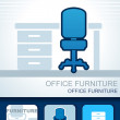 Office furniture - Stock Vector