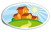 Real estate illustration — Stock Vector