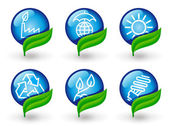 Environment protection icons — Stock Vector