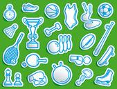Sport pictogrammen — Stockvector