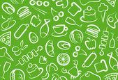 Foods background — Stock Vector