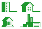 Buildings - Icon Set — Stock Vector