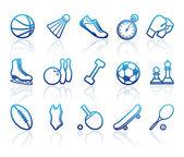Sports symbols — Stock Vector