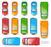 Cars and minibuses — Stock Vector