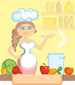 The cook — Stock Vector