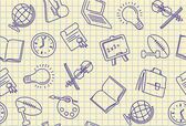 Seamless school background — Stock Vector