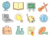 Education icons — Vector de stock