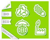 Icons of preservation of the environment — Stock Vector