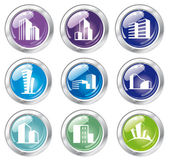 Shiny house icon collection — Stock Vector