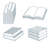 Sketches of books — Stock Vector