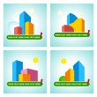 Symbols of the city real estate — Stock Vector