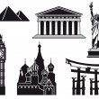 Icons of sights — Stock Vector #9983473