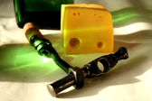 Corkscrew Wine and Cheese — Stock fotografie