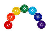 Buttons are laid out in a rainbow — Stock Photo