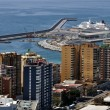 Aerial view of Malaga Port — Stock Photo