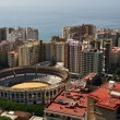 Aerial view of Plaza de Toros de Malaga — Stock Photo
