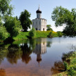 Church of Intercession on Nerl River Golden Ring Russia — Stock Photo #9931030
