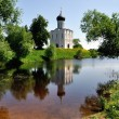 Church of the Intercession on Nerl River Golden Ring Russia — Stock Photo #9931030