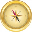 Vector vintage compass — Stock Vector