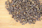 Green tea dried leaves — Stock Photo