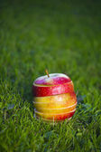 Fresh apples sliced — Foto Stock
