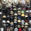 Hats on market — Stock Photo