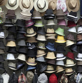 Hats on market — Foto Stock