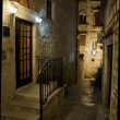 Croatia Hvar at night - Stock Photo
