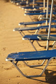 Sunbeds closeup on a beach — Stock Photo