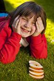 Colorful little girl portrait — Stock Photo