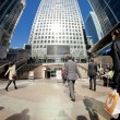 London's Canary wharf - Stock Photo