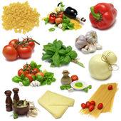Italské vaření sampler — Stock fotografie