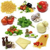 Italiensk matlagning sampler — Stockfoto