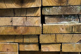 Stack of dried lumber — Stock Photo