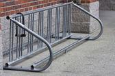Empty bicycle rack with lock — Stock Photo