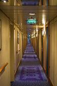 Gang van een cruiseschip — Stockfoto