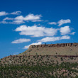 Western butte with dramatic sky — Stock Photo