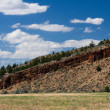 Western butte with dramatic sky — Stock Photo #9344177