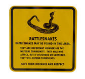Rattlesnake sign — Stock Photo