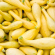 Stock Photo: Yellow or crook neck squash on display