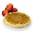 Stock Photo: Fresh baked apple pie with apples
