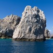 Dramatic rock formations jut from the Pacific Ocean — Stock Photo #9470609