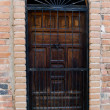 Old wooden door surronded by brick — Stock Photo #9470622