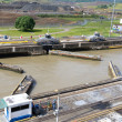 Gates and basin of Pedro Miguel Locks — Stock Photo #9470706