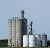 Grain storage silos and elevators — Stock Photo