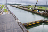 Gatun lock pool on Panama Canal — Stock Photo