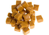 Caramel cubes in a pile — Stock Photo