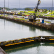 Gatun lock pool Panama Canal - Stock Photo