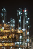 Night scene of chemical plant — Stock Photo