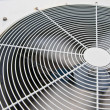Big fan blower in rotating active in chemical factory — Stock Photo #10394805